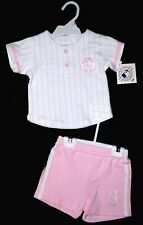 BOSTON RED SOX PINK 2 Piece Short Set Size 6X NWT  Super CUTE! MLB