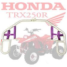 HONDA TRX250R MMF Racing NERF BARS with Purple Nylon Netting NEW