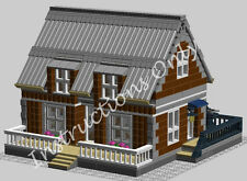LEGO INSTRUCTIONS to build cottage or city house w/wood working shop upstairs.