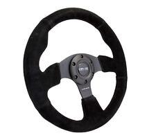 NRG Steering Wheel 320mm Race / Sport Black Suede Black Stitches