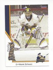 2007-08 Peoria Rivermen (AHL) Marek Schwarz (goalie)