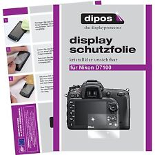 6x dipos Nikon D7100 Schutzfolie klar Displayschutzfolie Folie Clear kratzfest