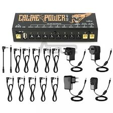 Caline Cp-04 Guitar Pedal Power Supply With USB Port 18v1a Input Power 10outlets