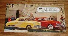 Original 1948 Studebaker Full Line Foldout Sales Brochure 48 Champion Commander