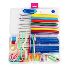 16 Sizes Knitting Utensils Crochet Needle Hook Supplies Case Knits Kits Set