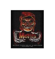OFFICIAL LICENSED - MISFITS - RED FIEND FIRE SEW-ON PATCH PUNK HORROR METAL