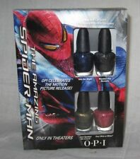 Opi Set 4 mini nail lacquers THE AMAZING SPIDERMAN Red Blue Green Silver