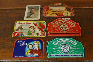 Lot of 6 Antique Vintage Advertising Sewing Needle Books And Need Pack Kits