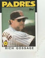 FREE SHIPPING-MINT-1986 Topps San Diego Padres  #530 Rich Gossage-2
