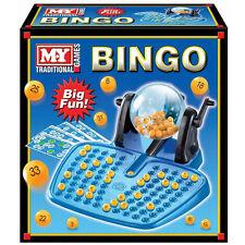 Large Bingo Set LOTTO Game Cards Tumbler Balls Family Fun Party Kids Lottery