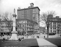 "1905 Court and Chenango Sts Binghamton, NY Vintage Photograph 8.5"" x 11"" Reprint"