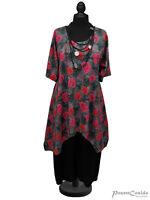 PoCo LAGENLOOK Tunika Long-Shirt grau pink 44 46 48 50 52 54 56 58 L-XL-XXL-XXXL