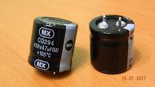 2 x 47UF 450 V Snap in condensateur électrolytique MX CD294