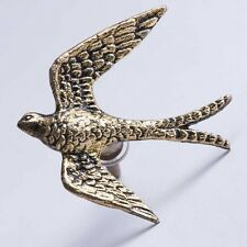 Gold brass hirondelle bouton. bird tiroir poignée cabinet pull bombay duck shabby chic