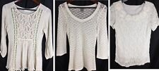 Lace Lacy Open Shirt Lot Of  Mix Inc A'reve Anthropologie Ann Taylor Sz Small S