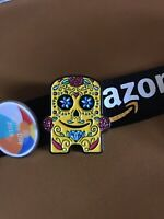 Official Peccy Day Of The Dead Pin Badge - Amazon Employee Exclusive