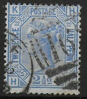 SG157  2&1/2d.Blue Plate 22.  Lightly Used With Good Colour. Cat.£40.  Ref:0661