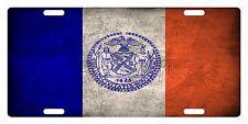NEW YORK CITY FLAG Custom License Plate Emblem Scratch  Version # 01
