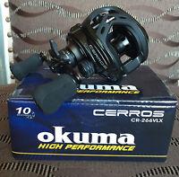 Okuma Cerros CR-266VLX Linkshand Baitcaster Multirolle zum Spinnfischen