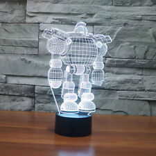Table Lamp Robot 3D Led Night Light Touch Table Lamp 7 Color Change Room Decor