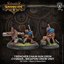 Warmachine: Cygnar Trencher Chain Gun Crew Weapon Crew Unit PIP 31026 NEW
