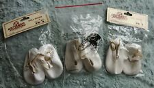 3 PAIRS WHITE 62 mm DOLLS ROUNDED TOE SHOE.