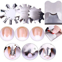 Nail French Line Edge Guide Stainless Steel Trimmer Cutter Multi-size