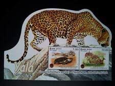 Collecting Postal stamps 3 sheets Animals Elephant Beer Tiger Yala National Park