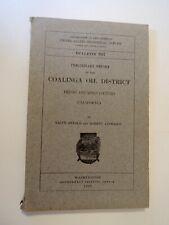 Vintage 1908 Maps & Coalinga Oil District Report California
