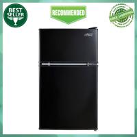 Arctic King 3.2 Cu Ft 2-Door Mini Fridge With Freezer Compact Refrigerator Black