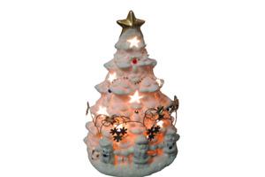 "Ceramic Christmas Tree Night Light 10"" Tall JC Penney Home Light Bulb Included"