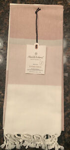 NEW Hearth and Hand with Magnolia 2pc Rose Gold Stripe Kitchen Towel Set