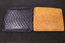Genuine Python Skin Leather Men's Bifold Wallet