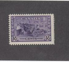 CANADA (MK314) # 261  VF-MNH  50cts  1942 MUNITIONS FACTORY/ VIOLET CAT VAL $75