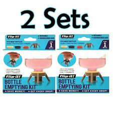 New!  Lot of *2* Flip-It Bottle Emptying Kit for Condiments/Lotion/Shampoo/More