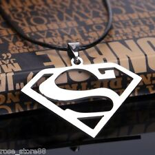 New Gift Unisex's Men Silver Stainless Steel Superman Pendant Necklace Chain