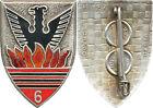 6° Régiment de Chasseurs d'Afrique, émail, flammes orangées, Drago 157 (H113)