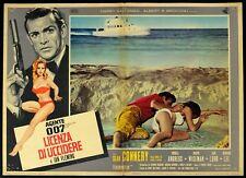 A.007 LICENZA DI UCCIDERE Dr. No SEAN CONNERY BOND, RARA 1a ED. FOTOBUSTA POSTER