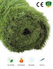 GOLDEN MOON Outdoor Artificial Grass Mat 5-Tone Realistic & Soft Green 3x5ft
