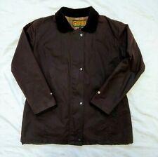 Men's GAME Dark Brown Cord Collar Country Rain Shower Water Proof Wax Jacket XL