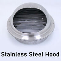 Stainless Steel Wall Air Vent Ducting Ventilation Exhaust Grille Cover Outlet #