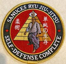 Patch Sanuces Ryu Jujitsu Jiu Jitsu Bjj Judo Mma Ufc Samurai Self-defense Comple