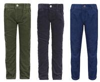 Boy's Cord Trousers Pants Kids Slim Fit Adjustable Waist Corduroy Pants
