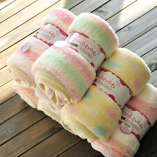 Newborn Baby Soft Fleece Blanket Wrap Shawl Pram Crib Moses Basket Bed Co Gift