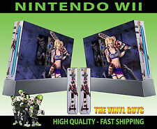 Nintendo Wii AUTOCOLLANT Lollipop Chainsaw Dark Décalque graphique Skin & 2 Pad