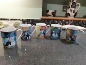Goebel Rosina Wachtmeister Cats mugs x 5
