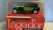 Die-cast Solido Hispano-Suiza H6B 1926 - 1/43 scale #145 green/black in box/case