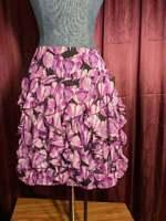NEW Worthington Purple Floral Layered Mini Skirt Womens 14 NWT Closet121*
