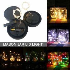 Mason Jar Lid Light Copper Wire Fairy String Lights Xmas Gardon Decoration Lamp