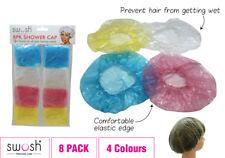 8 x Waterproof Plastic Shower Bath Shower Cap Bathing Hat Adult Kids AUSSIE